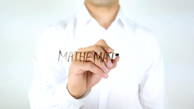 Mathematics, Man Writing on Glass video