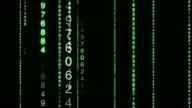 HD Matrix Numbers Data Loop video