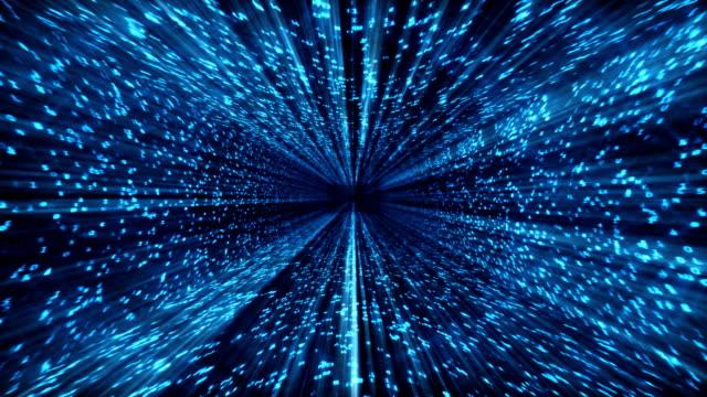 Matrix tunnel,data flow,seamless loop video