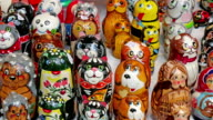 Matryoshka dolls with animal prints video