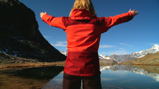 Matterhorn lake in Switzerland video
