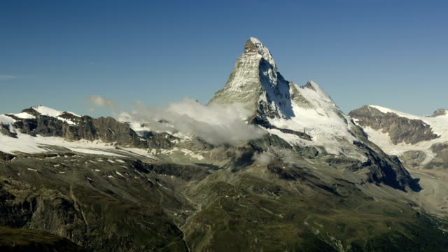Matterhorn time-lapse with clouds (zoom out). video