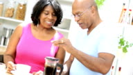 Mature African American Couple Breakfast Coffee video