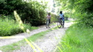 Mature African American Couple On Cycle Ride In Countryside video
