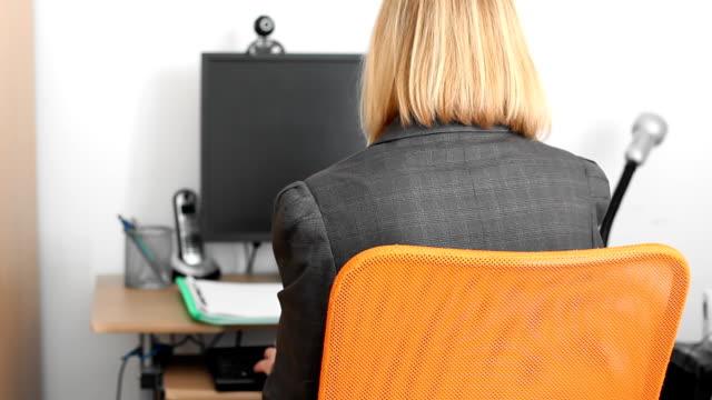 Mature businesswoman video