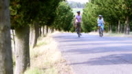 Mature Couple Cycling in Tuscany video