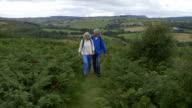 Mature Couple Enjoying a Country Walk video