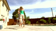 Mature Couple Playing Basketball, Los Angeles California video