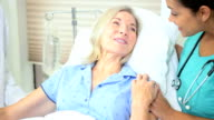 Mature Female Patient Hospital Bed video