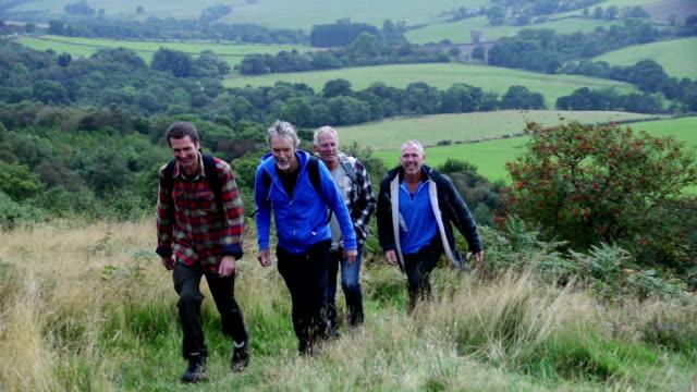 Mature Friends Hiking video