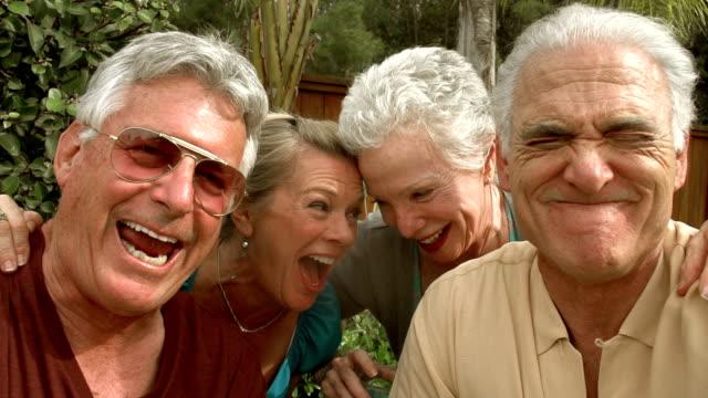 SLOW MOTION - Mature Garden Pool Selfie video