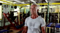Mature man in Gym video
