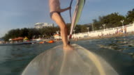 Mature man on the windsurf video