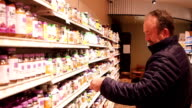 Mature Man Shopping For Supplements video