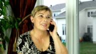 Mature woman on the phone video