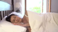 Mature Woman Sleeping In Bed During Day video