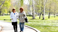 Mature woman Walking in the Park video