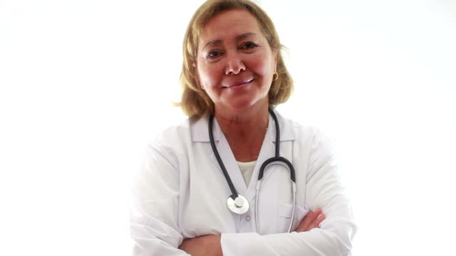 HD: Mature Women Doctor Portrait video