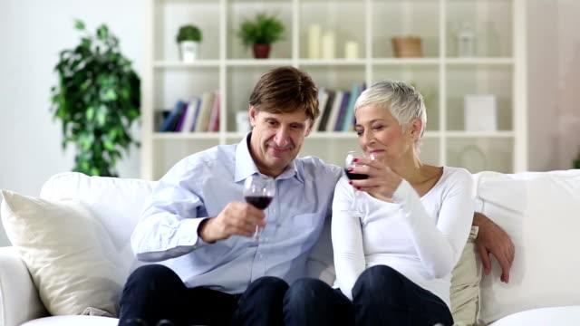 Mature-senior couple selfie video