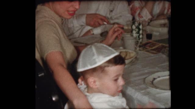 Matzo Ball soup served at Passover Sedar video