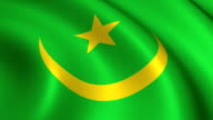 Mauritania Flag Loopable video