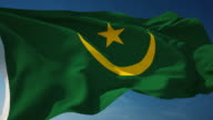 4K Mauritania Flag - Loopable video
