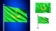 Mauritania flag - with Alpha channel, seamless loop! video