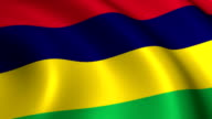 Mauritius Flag Loopable video
