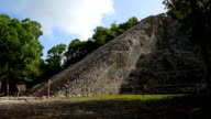 Mayan pyramid Coba video