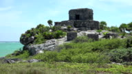 Mayan Ruins - Temple Pyramid Building - Closeup video