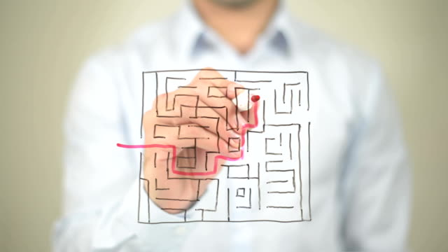 Maze, Path to Success, Drawing on Transparent Screen video