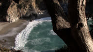 McWay Waterfall California Central Coast Tilt Up video