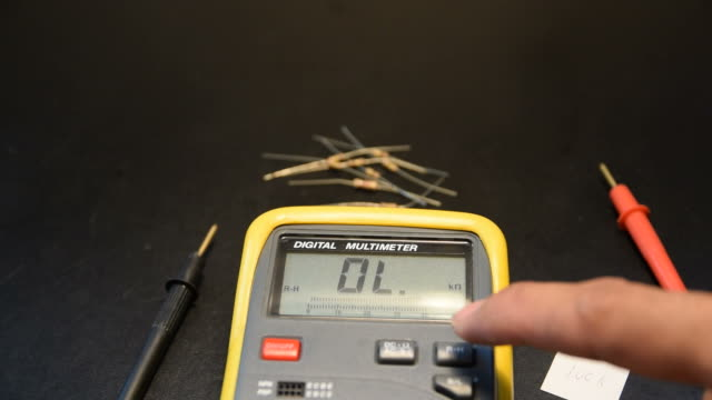 Measure the resistance of the resistor. video