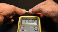Measurement fuses with digital meters. video