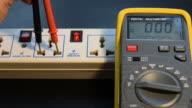 Measuring AC voltage. video