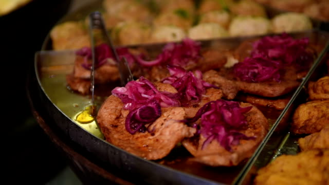 Meat cutlets at eatery video