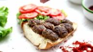 Meatball sandwich half bread video