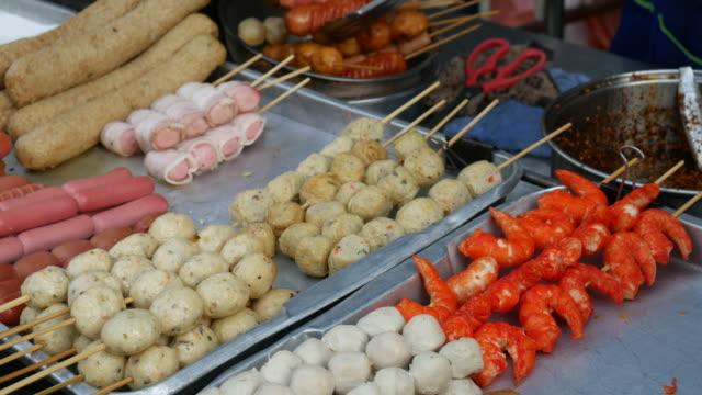 Meatballs, Street food, Thailand video
