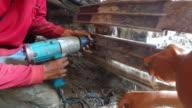 Mechanic wheel backhoe video