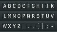Mechanical alphabet. Full HD video