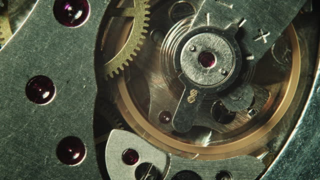 Mechanical watch movement video
