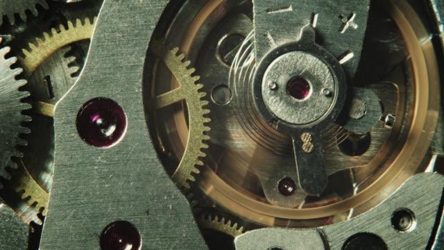 Mechanical watch movement video