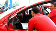 HD 720 Mechanics performing car diagnostics video