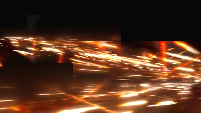 Media background. Freeway. Color - fire. video