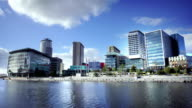 Media City in Salford Quays, Manchester, UK video