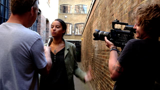 media: TV interview video