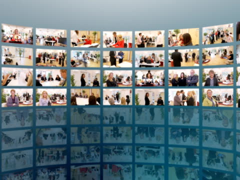 Media Wall of Business Images video