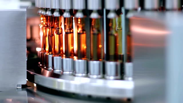 Medical Ampules on the Production Line - Automated Production of Medicines video