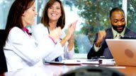 Medical Consultants Boardroom Meeting with Financial Advisors video