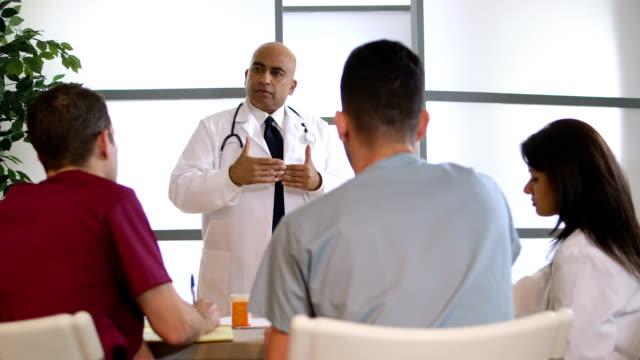 medical doctor giving a seminar video